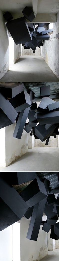 "SOONER OR LATER IT ALL COMES DOWN"" is the name given to the last sculptural installation by visual design studio Via Grafik"