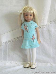 "Little Darling Effner 13""BJD Aqua Hand Knit Set OOAK by JEC | eBay"
