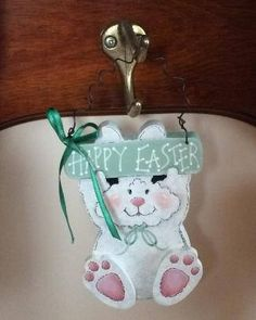 Happy Easter Bunny Easter Decorations Hanging Bunny Peg