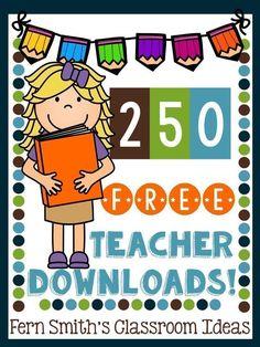 250 FREE Teacher Downloads!