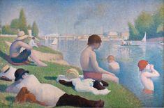 Bathers at Asnières. 1884, Georges Seurat