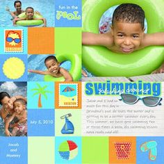 pool scrapbook page ideas - Google Search