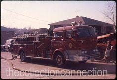 Vtg 1960 35mm Slide FORT LEE NJ Fire Dept Apparatus MACK Pumper Truck 1518