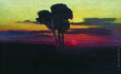 Куинджи Архип Иванович [1842—1910] Закат с деревьями. 1876—1890
