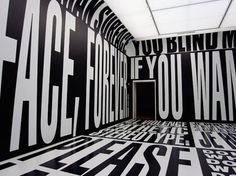 The Type Room, an art installation by Barbara Kruger.