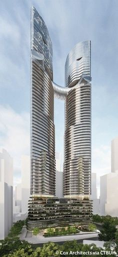 Shangri-La by the Gardens - The Skyscraper Center #futuristicarchitecture
