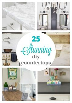 These 25 incredible DIY countertops prove you don't have to spend a lot of money to have a beautiful kitchen. Instead you can update your old countertops or build new ones with these creative DIY countertop ideas including concrete countertops, wood countertops, painted laminate countertops, and more. Painting Formica, Painting Laminate Countertops, Formica Countertops, Diy Kitchen Remodel, Kitchen Decor, Kitchen Ideas, Beautiful Kitchens, Kitchen Organization, Money