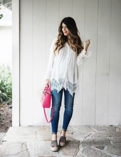 Boho Chic Blouse with Chicwish | spring fashion | spring style | spring outfit ideas | fashion tips for spring | style ideas for spring | outfits for spring | maternity fashion | maternity style | pregnancy fashion || The Girl in the Yellow Dress