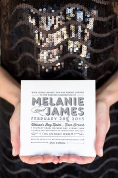 Letterpress Wedding Invitation - Hello Lover by The Print Fairy | Photo by Kate Dyer