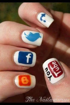 Geeky Nails... http://#squishable http://#cutengeeky