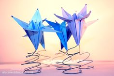 Cool, funky, origami flowers.
