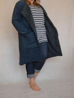 płaszczyk  z dzianinową podszewką Duster Coat, Denim, Jackets, Fashion, Down Jackets, Moda, La Mode, Jacket, Fasion
