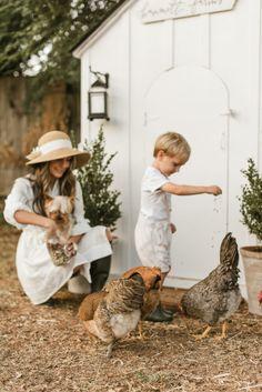 Hammett Farms Chicken Coop - Peaches to Pearls Backyard Farming, Chickens Backyard, Cute Chicken Coops, Chicken Coup, Chicken Feeders, Farm Lifestyle, Cute Chickens, Future Farms, Farm Photography