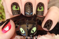 How to Train Your Dragon Nail Art