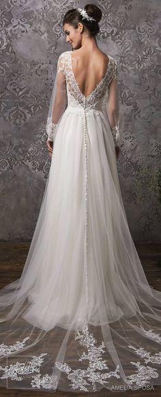 Amelia Sposa Wedding Dress Collection Fall 2018 bridal #weddingdress #weddingdresses #bridalgown #bridalgowns #weddings #bride