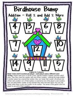 Cute addition board game from Games 4 Learning $