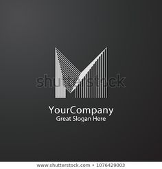 Letter M logo design. Luxury concept for architecture corporate business or urban city skyline Real Estate. Luxury Logo Design, Logo Desing, Real Estate Logo Design, Letter M Logo, Office Logo, Realtor Logo, Architecture Logo, Global Design, Corporate Business