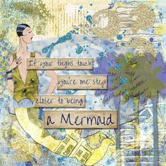Closer to being created by Marlie with Messy Bessies Artplate 8 and Beach Tails Word Strips and Collection by 2 Curly Headed Monsters Designs available at Mischief Circus.