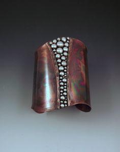Copper Cuff Powerful Goddess Tribal Rustic Earthy Boho by RedPaw