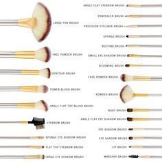 Pro Makeup Brushes Cosmetic Tool Kit Eyebrow Shadow Powder Brush Set Bag Condition: New: A brand-new, unused, unopened, undamaged item (including handmade items). See the seller's listing for full details. See all condition definitions- opens in a ne Makeup Brush Uses, Makeup Brush Cleaner, Makeup 101, Makeup Brush Holders, Makeup Guide, Skin Makeup, Makeup Tools, Makeup Hacks, Full Makeup Kit List