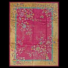 Stock Id: #19755    General Rug Type:       Chinese    Specific Rug Type:       Chinese - Art Deco    Circa: 1920    Color: Red    Origin: China    Width: 9' 0'' ( 274.3 cm )    Length: 11' 8'' ( 355.6 cm )