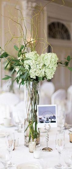 Featured Photographer: Rachel Havel Photography; Green wedding centerpiece idea