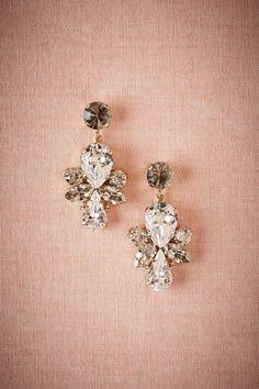Nina Odeta Crystal Ivory/off-white Organza Drop Earrings Wedding/bridal Jewelry & Watches