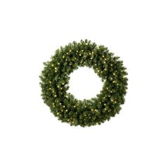 """Christmas Large Wreaths - 60"""" Pre-Lit Sequoia Fir Wreath, 400 Clear... (€930) ❤ liked on Polyvore featuring home, home decor, holiday decorations, christmas, fillers, xmas, christmas fillers, holidays, fir wreath and pre lit christmas wreath"""