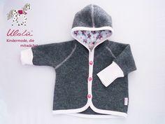 Jacken - Wolljacke Baby 56 - ein Designerstück von Ulalue-Kinderdinge bei DaWanda