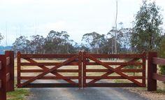 Farm Entrance, Driveway Entrance, Backyard Gates, Timber Gates, Sawn Timber, Farm Gate, Double Gate, Entrance Gates, House Goals