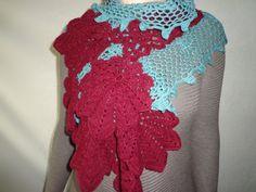 gift for her women stole women scarf crochet stole by UForgetMeNot