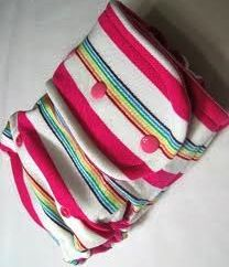 Southern Comfort Fitted Diapers Tickled Pink. Turned with CV. We have a dress in this same fabric so now my LO has another matching set. We love stripes too!