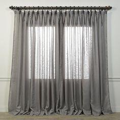 "Lark Manor Labrecque Iceland Semi-Opaque Single Curtain Panel Size: 108"" W x 100"" L, Color: Grey"