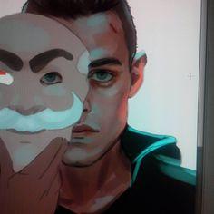 "Until Dawn - Joshua ""Josh"" Washington - Rami Malek  How do you use this thing... #wip #mrrobot #art #test"
