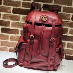 4903e35976d1 Gucci RE(BELLE) Leather Backpack 526908 Red 2018