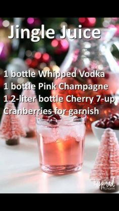 christmas cocktails jingle juice – Xmas Ideas Pin by Kate … christmas cocktails jingle juice – Xmas Ideas Pin by Kate Polselli on Fun and festive drinks in 2019 … christmas cocktails jingle juice Christmas Cocktails, Holiday Drinks, Summer Drinks, Holiday Recipes, Winter Cocktails, Christmas Drinks Alcohol, Holiday Punch, Christmas Punch, Cocktail