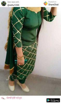 Salwar Suit Neck Designs, Sharara Designs, Dress Neck Designs, Blouse Designs, Indian Designer Outfits, Designer Dresses, Designer Kurtis, Trendy Dresses, Dresses For Work