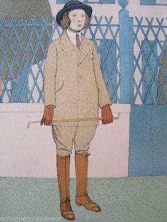 """La jeune Amazone"", 1913 by Bernard Boutet de Monvel (French 1881-1949) Gravure mode"