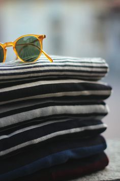 Sunglasses and stripes...