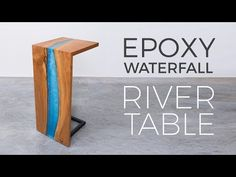 How to build a DIY epoxy resin river table with waterfall feature from a live edge slab. I'll show you how to pour thick epoxy resin pours, how to cut a waterfall joint, and how to finish an epoxy river table. Woodworking Patterns, Woodworking Videos, Woodworking Furniture, Woodworking Shop, Woodworking Plans, Woodworking Projects, Woodworking Chisels, Woodworking Basics, Woodworking Machinery