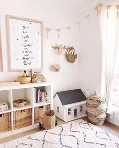 Currently sitting in this exact room as I post this being served my sons culinar. - Currently sitting in this exact room as I post this being served my sons culinary delights 🍰 I d - Baby Playroom, Playroom Decor, Baby Room Decor, Minimalist Kids, Kids Room Design, Playroom Design, Nursery Design, Toy Rooms, Little Girl Rooms
