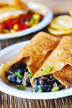 Crepes with creamy chicken and mushroom filling, savory crepe filling, crepe recipes, chicken and mushroom recipes