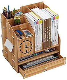 Study Room Design, Study Room Decor, Diy Room Decor, Diy Furniture Couch, Pallet Furniture, Desktop Bookshelf, Wooden Desk Organizer, Laser Cutter Ideas, Wood Rack