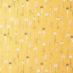 wildflowers fabric - yellow