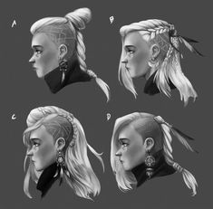 Fantasy Hairstyles Drawing pin milan character ideas dibujar cabello Source: website fantasy faces hair anime drawing comics Source: w. Character Design Inspiration, Hair Inspiration, Male Hairstyles, Drawing Hairstyles, Viking Hairstyles, Medium Hairstyles, Latest Hairstyles, Half Shaved Hairstyles, Short Hair