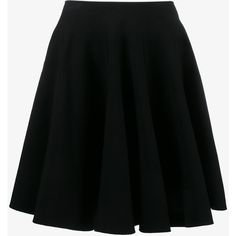 Alaïa flared skirt (43.949.450 VND) ❤ liked on Polyvore featuring skirts, black, circle skirt, flared skirt, skater skirt, alaïa and alaia skirt