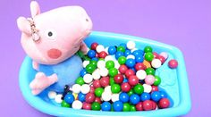 Peppa Pig - Learn Colors & Counting Baby Doll Bath Time Playing with Gum...