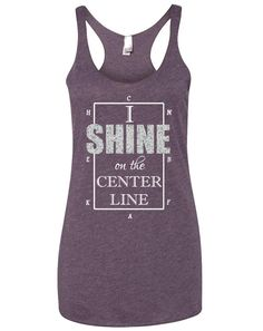 I Shine on the Center Line Dressage Tank by EquestrianCreations