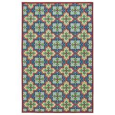 Five Seasons Multicolor Rectangular: 5 Ft X 7 Ft 6 In Rug Kaleen Rugs Indoor/Outdoor Rugs