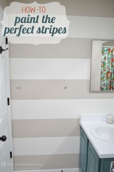 How-to Paint the Perfect Stripes #DIY